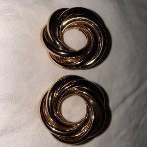 Gold Roped Costume Earrings